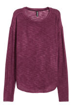 Knitted jumper - Dark purple - Ladies | H&M 2