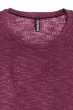 Knitted jumper - Dark purple - Ladies | H&M 3