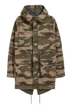 Cotton twill parka - Khaki green/Patterned - Men | H&M 2