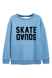 Sweatshirt with a text print