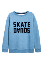 Sweatshirt with a text print - Blue marl - Kids | H&M 2
