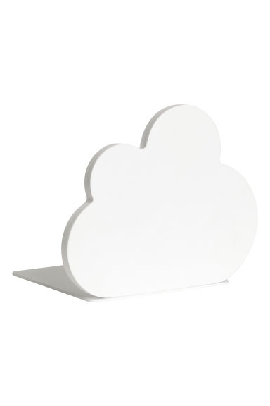 Wood and metal bookend - White/Cloud - Home All | H&M CN 1