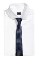 Spotted silk tie - Dark blue - Men | H&M 1
