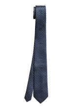 Spotted silk tie - Dark blue - Men | H&M 2