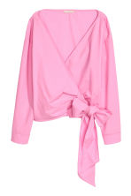 Wrapover blouse - Pink - Ladies | H&M 2