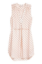 V-neck dress - Powder/Patterned - Ladies | H&M IE 2