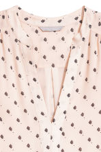 V-neck dress - Powder/Patterned - Ladies | H&M IE 3