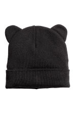 Hat with ears - Black -  | H&M 1