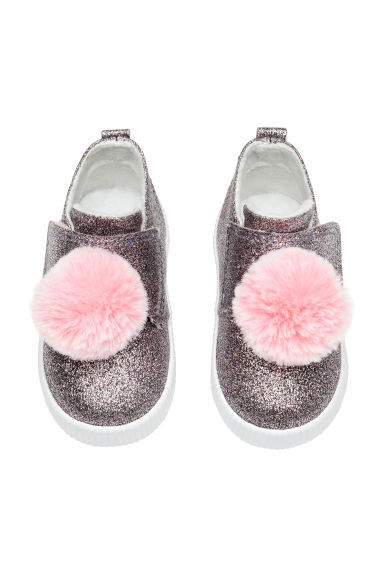 Warm-lined trainers - Pink/Glittery -  | H&M