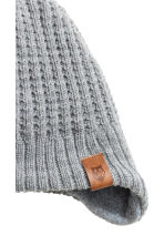 Fleece-lined hat with earflaps - Grey marl - Kids | H&M 2