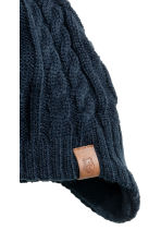 Fleece-lined hat with earflaps - Dark blue - Kids | H&M CN 2