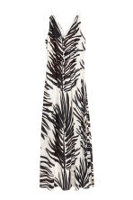 Long V-neck dress - White/Palm leaf - Ladies | H&M 2