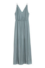 Long V-neck dress - Blue-grey - Ladies | H&M CA 1