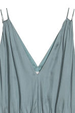 Long V-neck dress - Blue-grey - Ladies | H&M CA 2