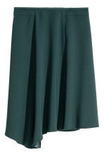 Asymmetric skirt - Dark petrol - Ladies | H&M 2