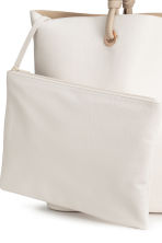 Shopper with clutch bag - White - Ladies | H&M 4