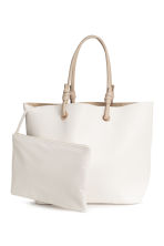 Shopper with clutch bag - White - Ladies | H&M 2