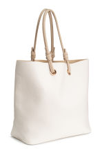Shopper with clutch bag - White - Ladies | H&M 3