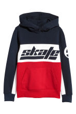 Hooded top - Red/Dark blue -  | H&M CN 2