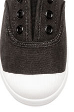 Cotton canvas trainers - Black - Kids | H&M 3