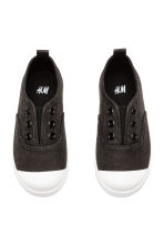 Cotton canvas trainers - Black -  | H&M 2
