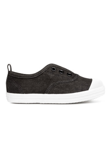 Cotton canvas trainers - Black - Kids | H&M 1