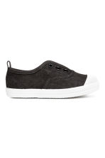Cotton canvas trainers - Black -  | H&M 1