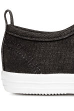 Cotton canvas trainers - Black - Kids | H&M 4