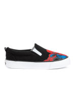 Slip-on trainers with a motif - Black/Spiderman -  | H&M CN 2