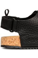 Leather sandals - Black - Kids | H&M 4