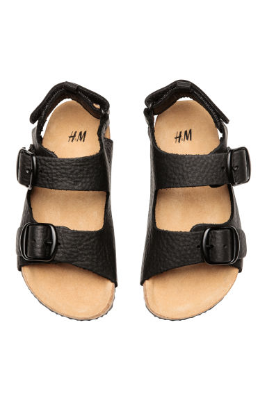 Leather sandals - Black - Kids | H&M 1