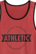 Sports vest top - Rust red - Men | H&M 3