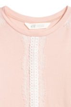 Long-sleeved top with lace - Powder pink - Kids | H&M CN 3