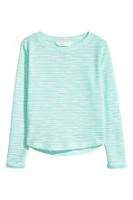 Tricot top - Turkoois -  | H&M BE 2