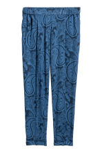 鬆緊式長褲 - Blue/Paisley - Ladies | H&M 2