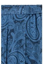 鬆緊式長褲 - Blue/Paisley - Ladies | H&M 3