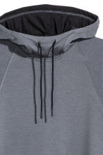 Sleeveless hooded top - Dark grey marl - Men | H&M 3