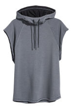 Sleeveless hooded top - Dark grey marl - Men | H&M 2