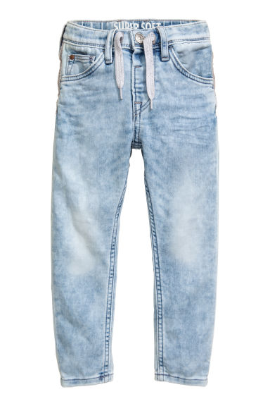 Super Soft Relaxed Jeans - 浅牛仔蓝 - Kids | H&M CN