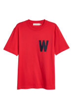 Printed T-shirt - Red - Men | H&M CN 2