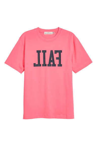 Printed T-shirt - Pink - Men | H&M 1
