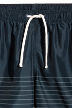 Knee-length swim shorts - Dark blue/Striped - Men | H&M CA 4