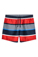 Knee-length swim shorts - Red/Striped - Men | H&M 2