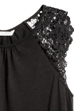 Jersey top with lace - Black - Ladies | H&M CA 3