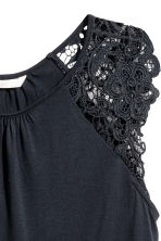 Top in jersey con pizzo - Blu scuro - DONNA | H&M IT 3