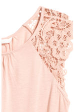 Jersey top with lace - Powder pink - Ladies | H&M CA 3