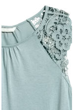 Jersey top with lace - Light turquoise - Ladies | H&M 3