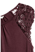 Jersey top with lace - Plum - Ladies | H&M CN 3
