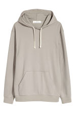 Cotton Jersey Hooded Shirt - Gray beige - Men | H&M CA 1