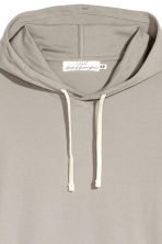 Cotton Jersey Hooded Shirt - Gray beige - Men | H&M CA 2